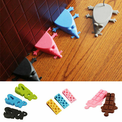 Wedge Door Stop Doorstop Cartoon Silicone Child Door Stopper Baby Safety Protect