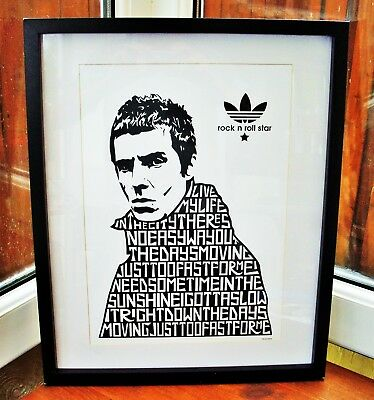 Oasis/Liam Gallagher/Rock N Roll Star A3 size typography art print/poster