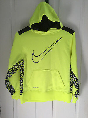Nike Therma Fit Pullover Hoodie   Yellow/green W/camo  Size M