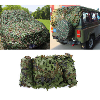 Camouflage Netting Woodland Camo Army Green Net Military Camping Hunting Shelter