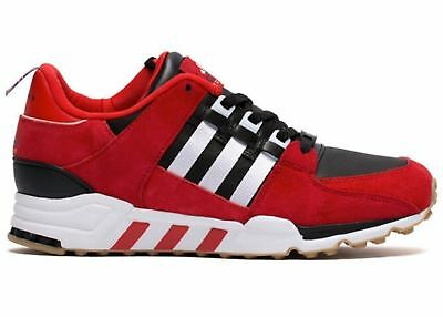 100% authentic bf507 93a0f SZ 10 Adidas Equipment Running Support EQT Black Red White B27660 England DS