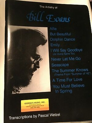 THE ARTISTRY OF Bill Evans - jazz piano solo transcriptions - Like new  condition