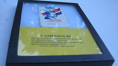GEORGE H W BUSH FOR PRESIDENT CAMPAIGN 88 CIGARETTE PACK new in case