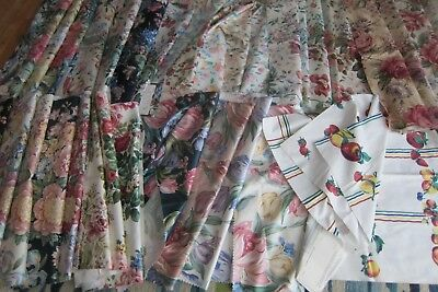 Large Lot Designer Fabric Swatches Sample Each 26X26 100% Cotton New York 8 LBS