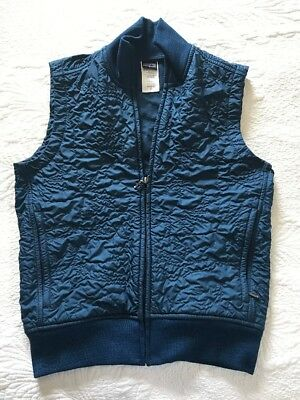Patagonia Womens Vest Jacket Bomber Fleece Blue Teal Small S