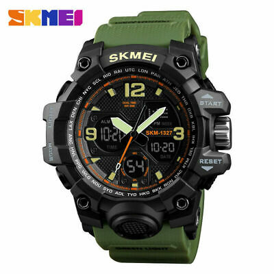 SKMEI Men Military Army Sport Analog Digital LED Watch Waterproof Tactical Watch