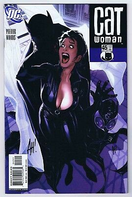 Catwoman #45 NM Signed w/COA by Cover Artist Adam Hughes 2005 DC Comics