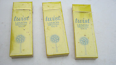 Vintage Twist Lemon Cigarettes Unopened 4 Pack Sample Hard Pack Collectible Only