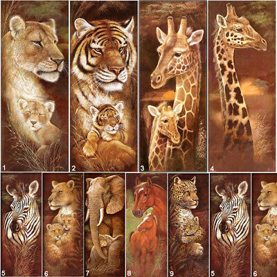 Full Drill Tiger DIY 5D Diamond Painting Animal Cross Stitch Kits Lion Giraffe