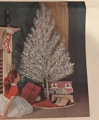 VINTAGE SILVER FOREST 6.5 FT ALUMINUM CHRISTMAS TREE As Is