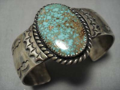 Important! High Grade Royston Turquoise Vintage Navajo Sterling Silver Bracelet