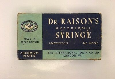 Dr Raison's Hypodermic Syringe Made In Great Britain