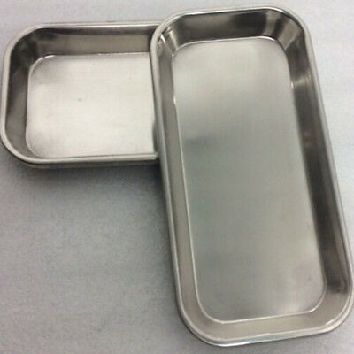 Dental Stainless Steel Medical Surgical Tray Dish Lab Instrument Tool 22.5*12cm