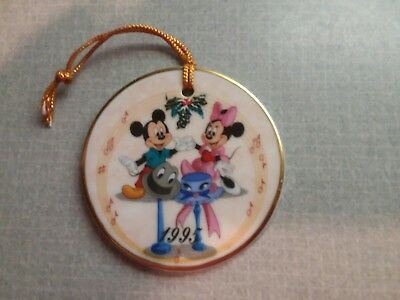 Minnie and Mickey Mouse Disney Ornament 1995 Christmas Limited Ed Theme Parks