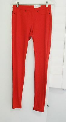 664d0e0b9f2 HUE Womens Original Denim Leggings Fiery Red U13360H Sz XS - NWT