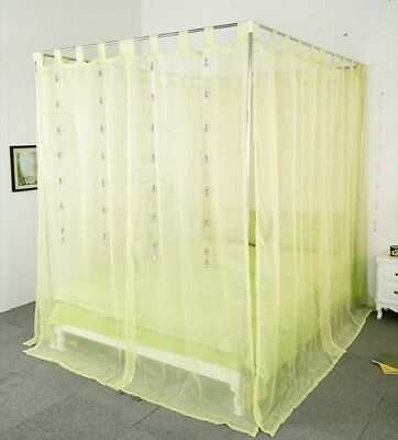 King Green Yarn Mosquito Net Bedding Four-Post Bed Canopy Curtain Netting#