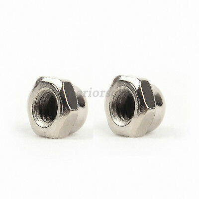 M3 M4 M5 M6 M8 M10 M12 Acorn Cap Dome Nuts to Fit Metric Bolts - Ni Plated Steel