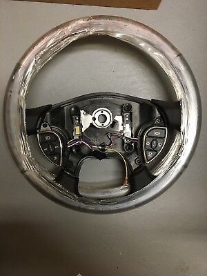 "Freightliner 18"" Smart Steering Wheel--Woodgrain and Leather - P/N: 14-15942-000"