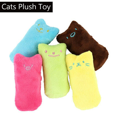 2 / 4x Cat Kitty Peluche Denti Pillow Interactive Scratch Kicker Catnip Toy