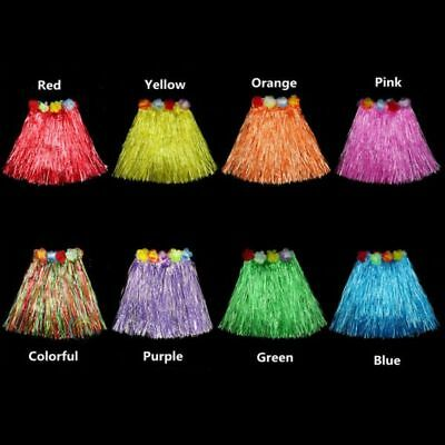 Toddler Baby Kid Girl Hawaiian Hula Grass Skirt Summer Wristband Dress Costumes