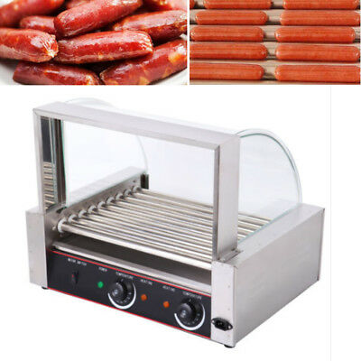 Hot Dog Grill Wurstgrill Hot Dog Maker Hot Dog Maschine 9 Rollen Grill 1800W