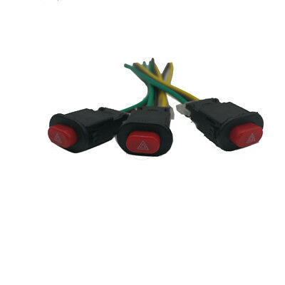 3 Wire Motorcycle Button Switch for Double Flash Hazard Warning Emergency Lamp