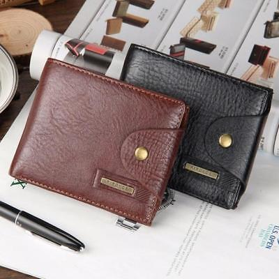 Fashion Mens Mini PU Leather Money Clip Wallet Purse ID Holder Credit Card Bag T