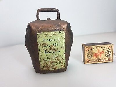 """Vintage Australian Ormond Condamine """" Bull Frog """" Metal Goat Cow Bell Cowbell"""