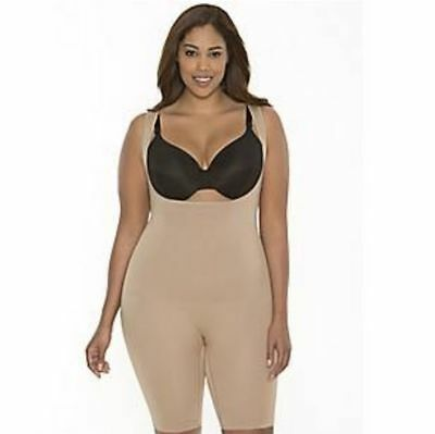 bf820aded17 New Lane Bryant Shape By Cacique Open Bust Body Suit Brief Shaper Nude 26-28
