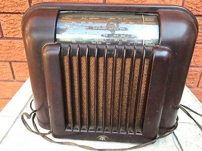 Antique wooden radio