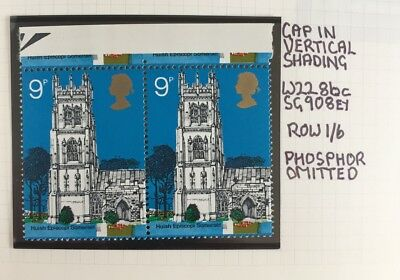 Pair Of Mint Unmounted 1972 Village Churches Decimal Stamps PHOSPOR OMITTED