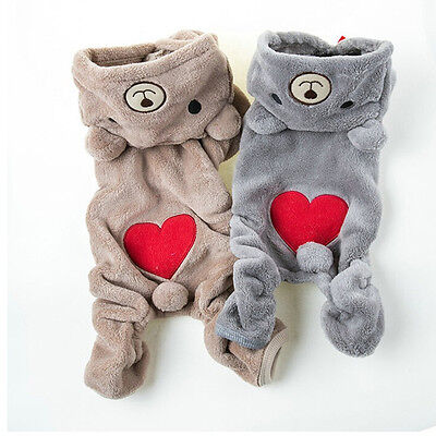 Chihuahua Teddy Dog Puppy Pet Jumpsuit Pajamas Warm Jacket Coat Clothes、Pop