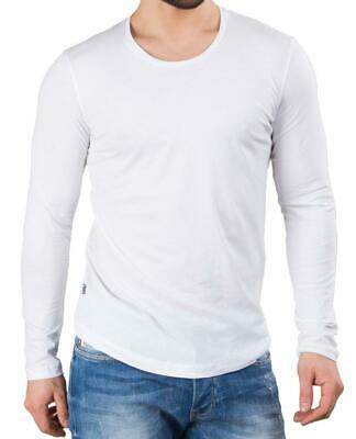 Redbridge Men s Pullover Long-Sleeved Sweatshirt Long Sleeves Cotton Basic  White 23340c551