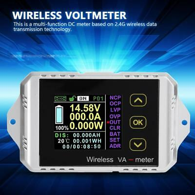 Wireless DC 0~400V 0~300A LCD Digital Combo Panel Volt Amp Power Watt Meter