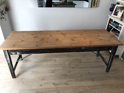 Large Dining Table Vintage Antique Retro