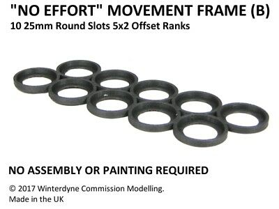 """""""No Effort"""" Movement Tray Frame(B), Suits Age of Sigmar, Warhammer, 25mm Round"""