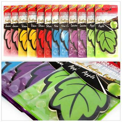 6Pcs Car Home Leaf Paper Air Freshener Fresher Scent-Mixed Assorted Fragrance