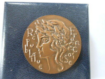 Ancienne Medaille Bronze  Assemblee Nationale Lille 20 Juin 1982