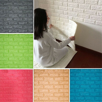 3D Modern Brick Pattern Wallpaper Self-adhesive PE Room Home Wallpape CRIT