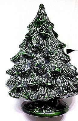 Christmas Ceramic Tree Cards Mail Napkin Guest Towel Holder Home Decor Vintage