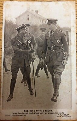 Daily Mail War Picture Postcard. King George and King Albert