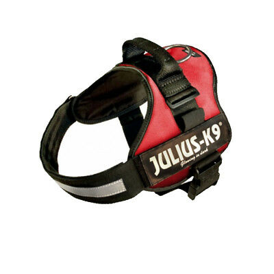 Julius K9 Powerharness Durable Padded Dog Harness, Red