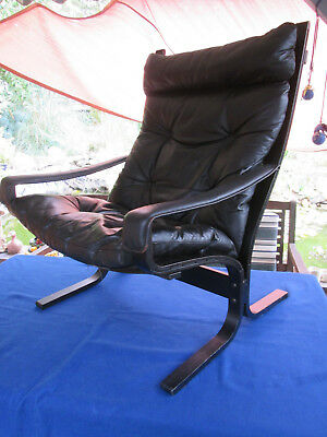 1 4 60s westnova ingmar relling sessel loungechair for Ledersessel schwarz design