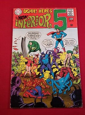 Inferior Five Comic Book #10 DC Comics 1968 5.0 FF Spidey Sub-Mariner parody Wow