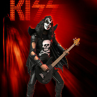 KnuckleBonz Rock Iconz KISS The Demon Hotter Than Hell Gene Simmons Statue