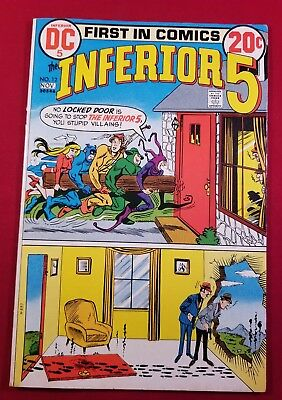 Inferior Five #12 7.5 condition. DC comics HULK PARODY STORY. GLOSSY WHITE PAGES