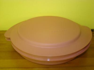 Vintage Tupperware Dusty Rose Pink  Microwavable Reheatables Bowl W/Lid Plate
