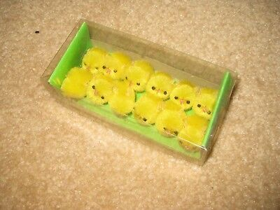 Vintage Easter Chenille Fuzzy Box of Easter Chicks New in Box