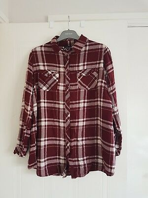 New Look check maternity shirt size 10