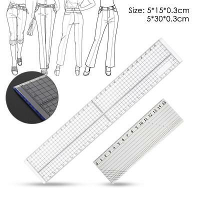 15/30cm Sewing Patchwork Foot Aligned Ruler Quilting Grid Cutting Tailor Craft